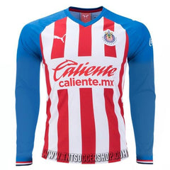 Chivas 19/20 Home LS Jersey Personalized Long Sleeve Jersey TNT Soccer Shop