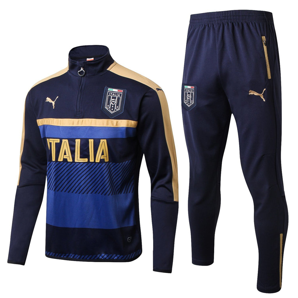 Italy 17/18 Blue Tracksuit Tracksuit TNT Soccer Shop