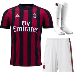 AC Milan 17/18 Home Full Kit - IN STOCK NOW - TNT Soccer Shop