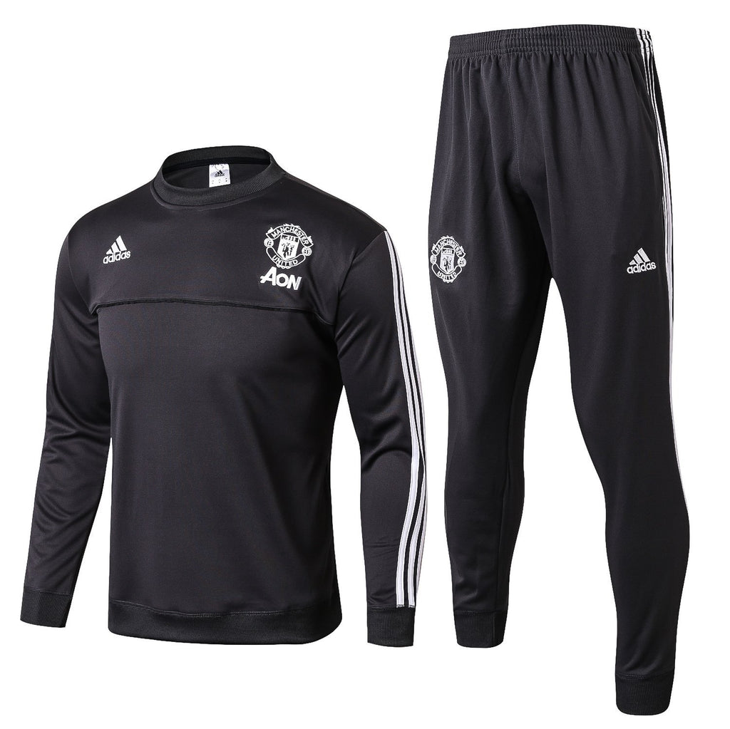 Man. United 17/18 Black Pre-Match Tracksuit Tracksuit TNT Soccer Shop