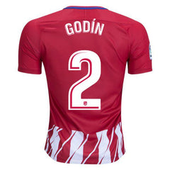 Atletico Madrid 17/18 Home Jersey Godín #2 - IN STOCK NOW - TNT Soccer Shop