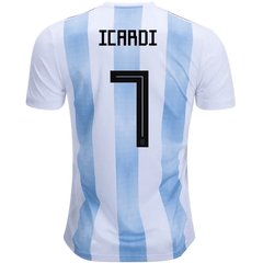 Argentina 2018 Home Jersey Mauro Icardi #7 - IN STOCK NOW - TNT Soccer Shop