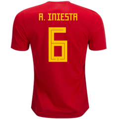Spain 2018 Home Jersey Andres Iniesta #6 - IN STOCK NOW - TNT Soccer Shop