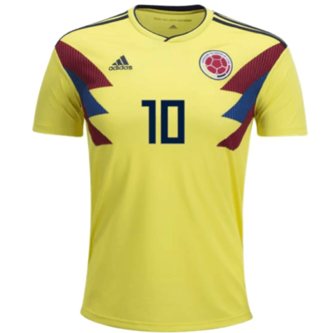 f4636e27cc6 Colombia 2018 Home Jersey James Rodríguez #10 – TNT Soccer Shop