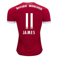 Bayern Munich 17/18 Home Jersey James #11 - IN STOCK NOW - TNT Soccer Shop