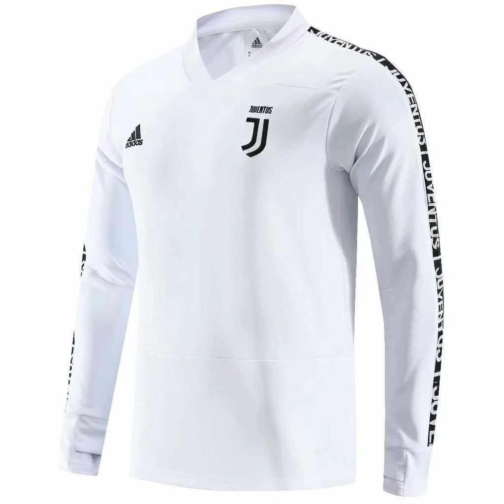 Juventus 19/20 White Band Training Top Tracksuit TNT Soccer Shop S No