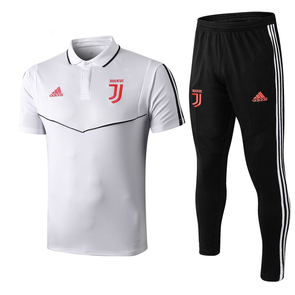 Juventus 19/20 White Presentation Polo Polo TNT Soccer Shop S with Training Pants