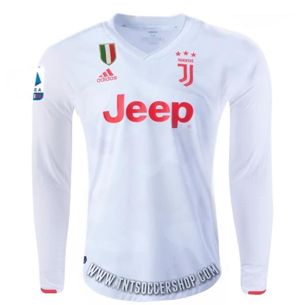 Juventus 19/20 Away LS Jersey Personalized Long Sleeve Jersey TNT Soccer Shop S Serie A No