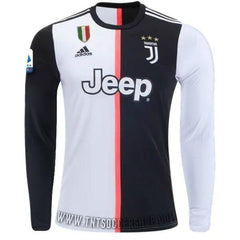 Juventus 19/20 Home LS Jersey Personalized Long Sleeve Jersey TNT Soccer Shop S Serie A No