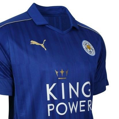 purchase cheap 9686b d3294 Leicester City 16/17 Home Jersey Mahrez UCL patch KIT #26 READY TO SHIP!