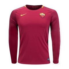AS Roma 17/18 Home LS Jersey Personalized Long Sleeve Jersey TNT Soccer Shop