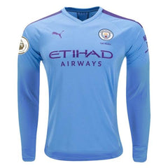 Manchester City 19/20 Home LS Jersey Personalized Jersey TNT Soccer Shop S Premier League No
