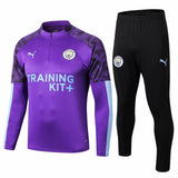 Manchester City 19/20 Purple 1/4 Zip Training Top Tracksuit TNT Soccer Shop S with Training Pants