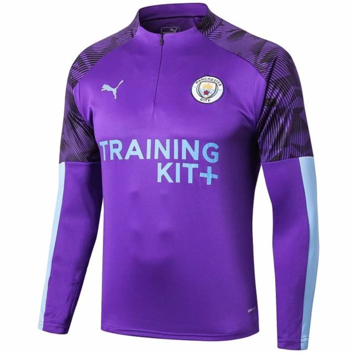 Manchester City 19/20 Purple 1/4 Zip Training Top Tracksuit TNT Soccer Shop S No