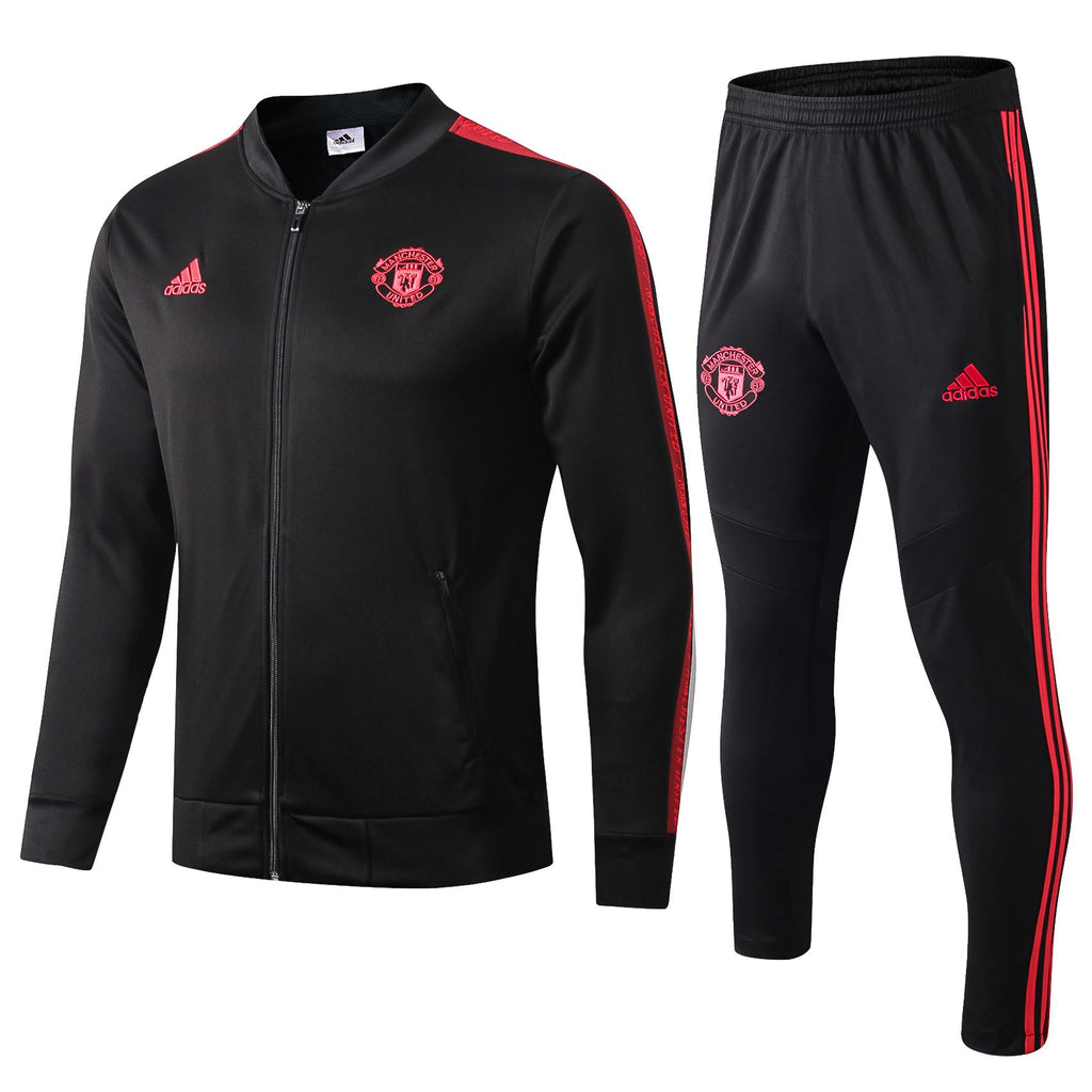 Manchester United 19/20 Black II Anthem Jacket Jacket TNT Soccer Shop S with Training Pants