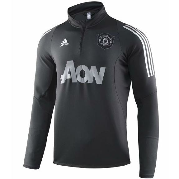 Manchester United 19 20 Gray 1 4 Zip Training Top Tnt Soccer Shop