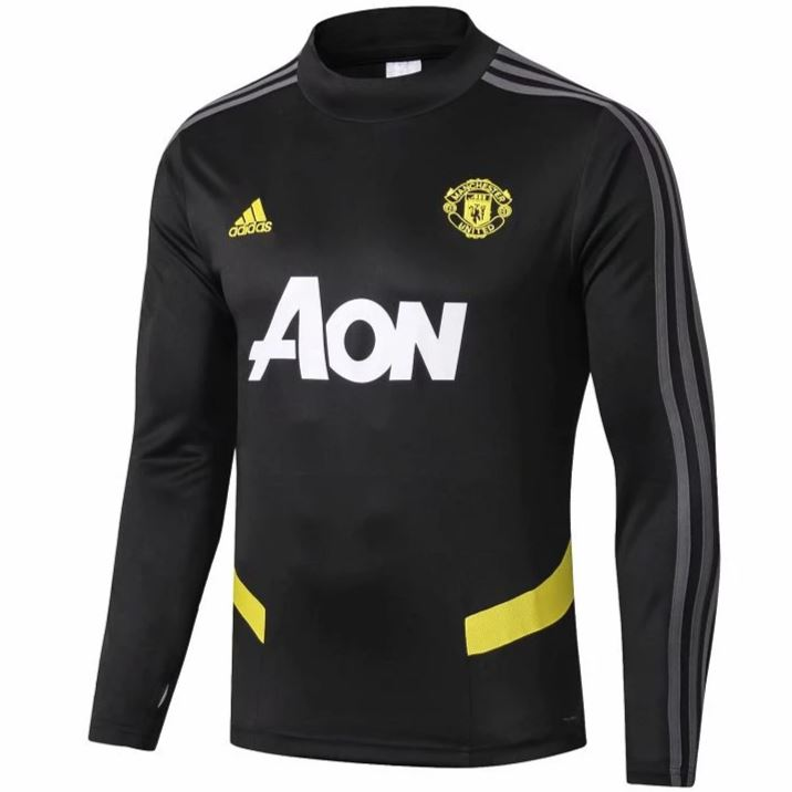 Manchester United 19/20 Black Technical Training Top Tracksuit TNT Soccer Shop S No
