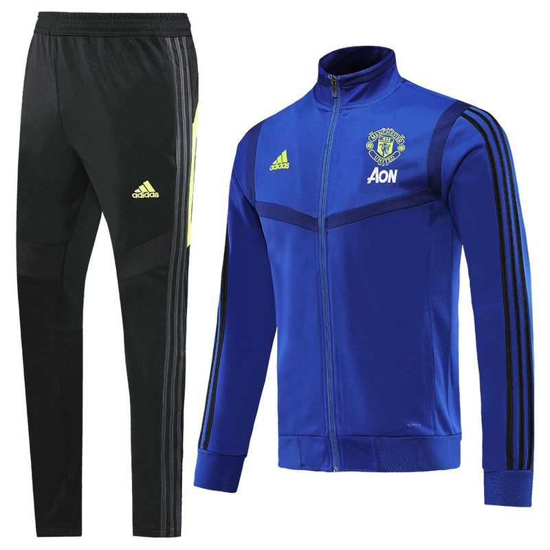 Manchester United 19/20 Blue Presentation Jacket Jacket TNT Soccer Shop S with Training Pants
