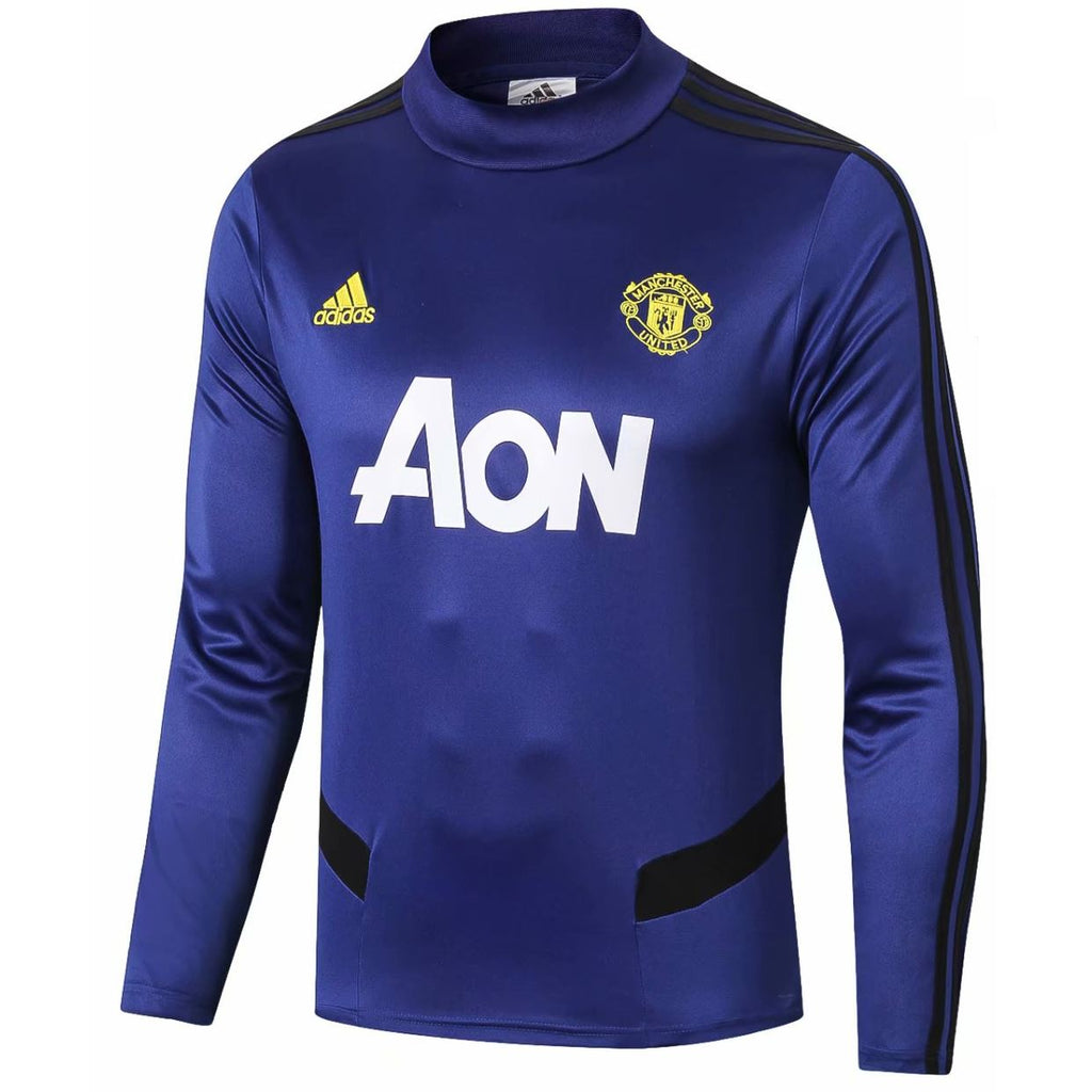 Manchester United 19/20 Blue Tactical Training Top Tracksuit TNT Soccer Shop S No