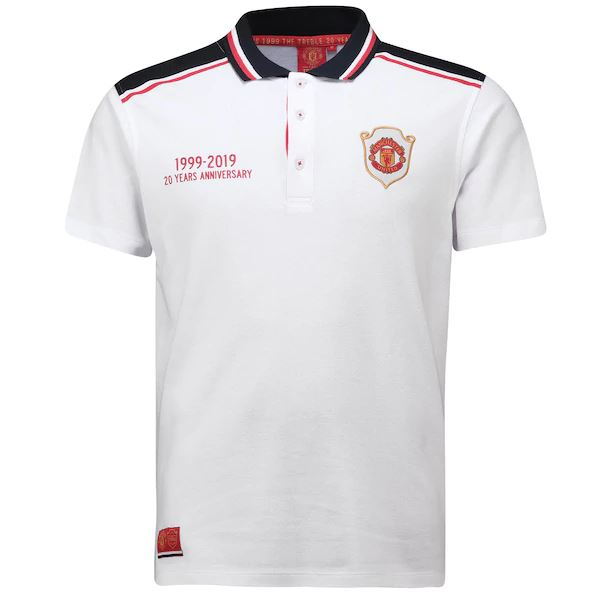 Manchester United 19/20 White Treble Anniversary Polo Polo TNT Soccer Shop