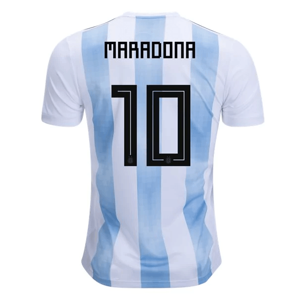 ad7b824c631 Argentina 2018 Home Jersey Diego Maradona #10 - IN STOCK NOW - TNT Soccer  Shop