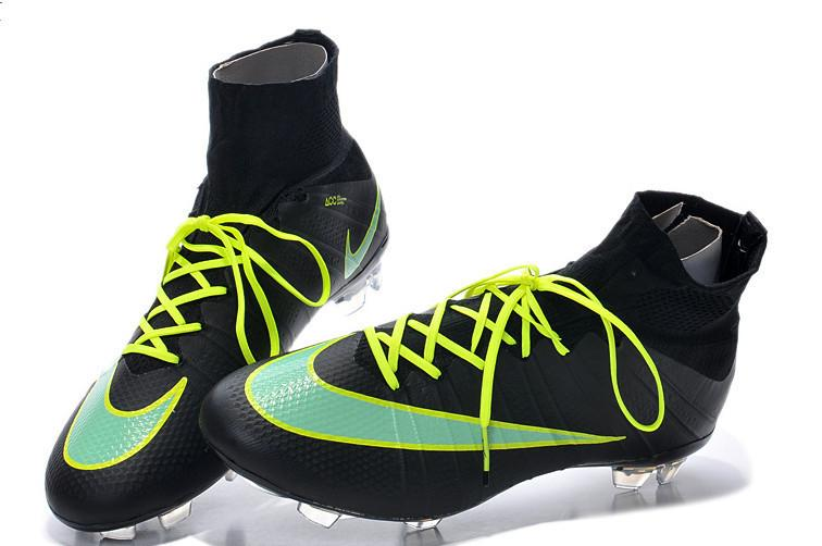 Mercurial Superfly FG - Black/Green - IN STOCK NOW - TNT Soccer Shop