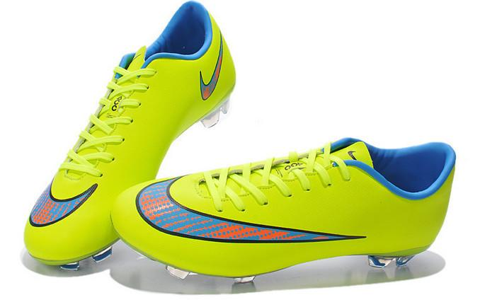 Mercurial Vapor X FG- Blue Neon - IN STOCK NOW - TNT Soccer Shop