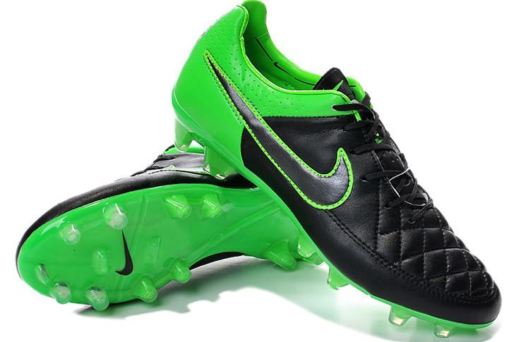Tiempo Legend V FG - Black & Green - IN STOCK NOW - TNT Soccer Shop