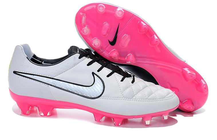 Tiempo Legend V FG - White & Pink - IN STOCK NOW - TNT Soccer Shop