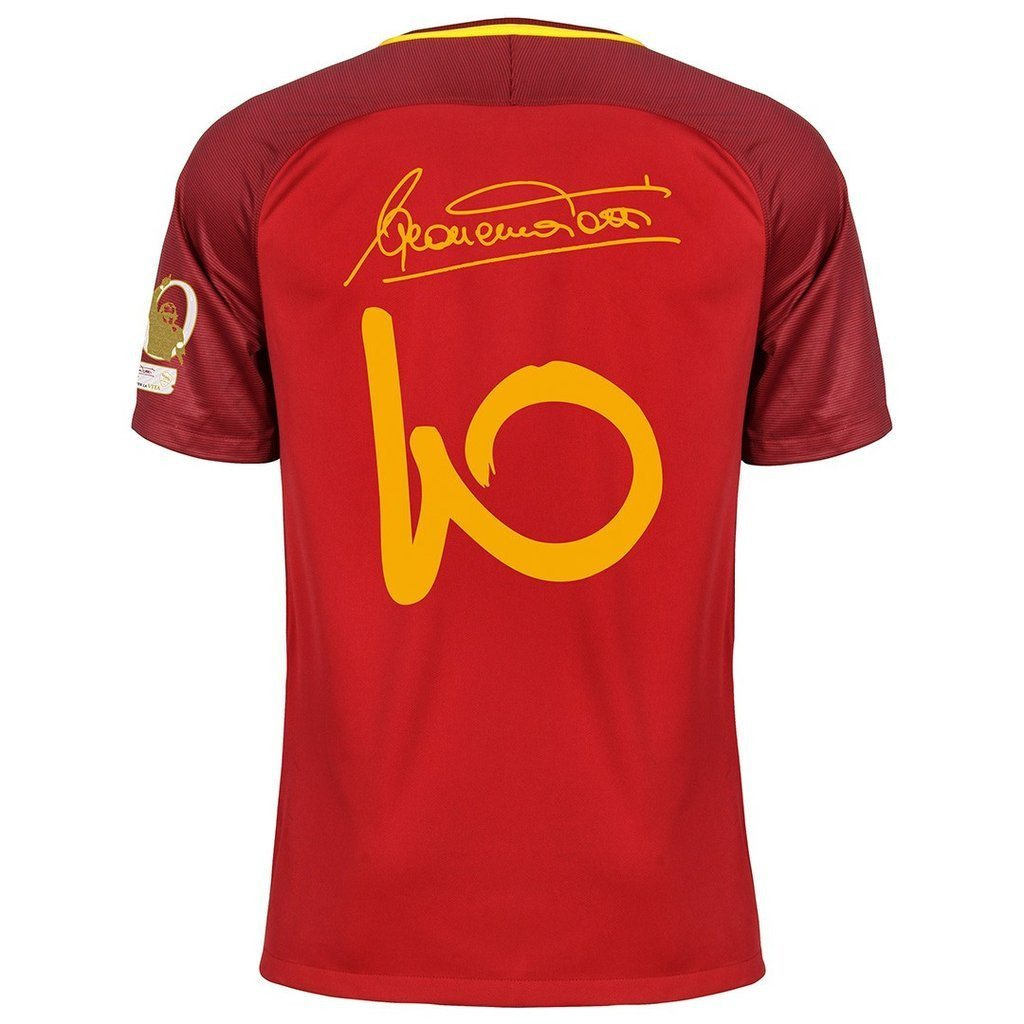 8a46ee657bd AS Roma 17 18 Home Jersey Totti  10 Special Edition – TNT Soccer Shop