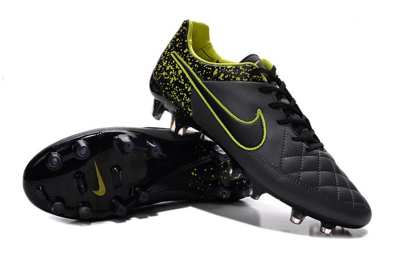 Tiempo Legend V FG - Anthracite Black Volt - IN STOCK NOW - TNT Soccer Shop