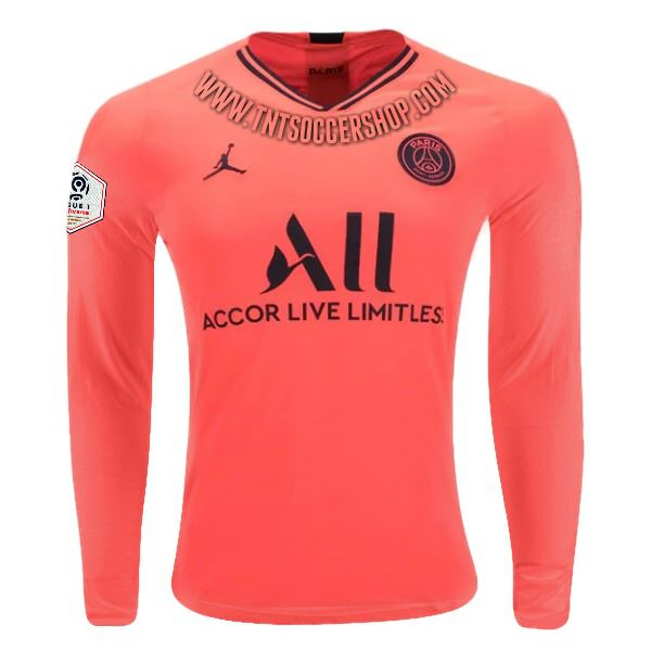 Paris Saint-Germain 19/20 Away LS Jersey Personalized Long Sleeve Jersey TNT Soccer Shop S Ligue 1 No