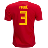 Spain 2018 Home Jersey Gerard Piqué #3 - IN STOCK NOW - TNT Soccer Shop