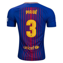 Barcelona 17/18 Home Jersey Pique #3 - IN STOCK NOW - TNT Soccer Shop