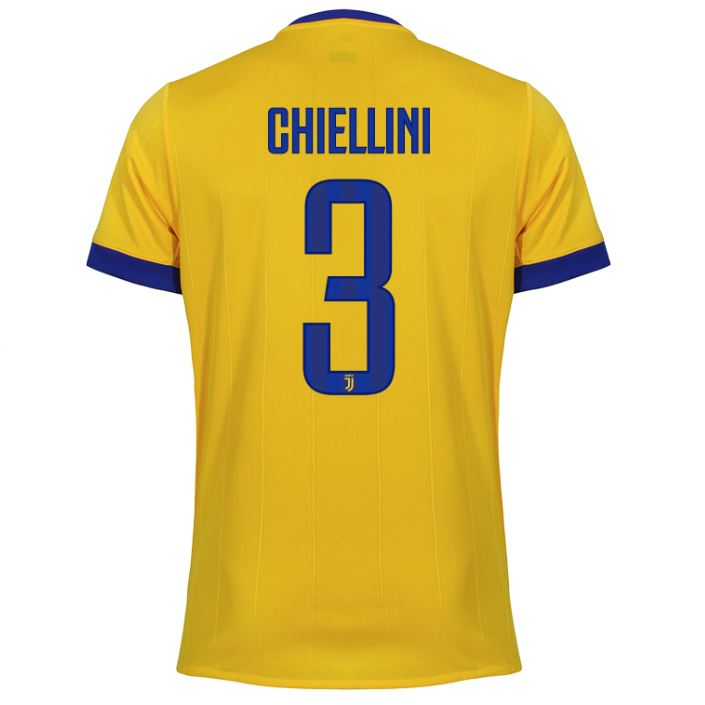 Juventus 17/18 Away Jersey Chiellini #3 Ready to ship! Jersey TNT Soccer Shop