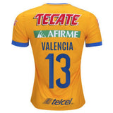 Tigres UANL 16/17 Home Jersey Valencia #13 Jersey TNT Soccer Shop