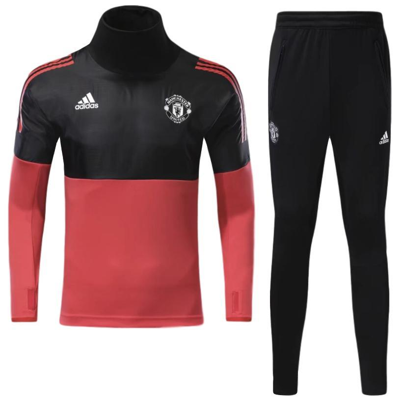 Man. United 17/18 Black & Red Pre-Match Tracksuit Tracksuit TNT Soccer Shop