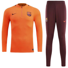 Barcelona 17/18 Orange Pre-Match Tracksuit - IN STOCK NOW - TNT Soccer Shop