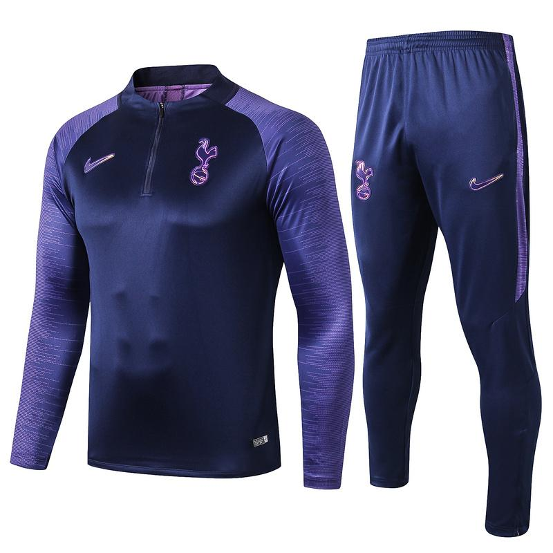 Tottenham 19/20 Navy Blue LS Strike Drill Top Tracksuit TNT Soccer Shop S with Training Pants