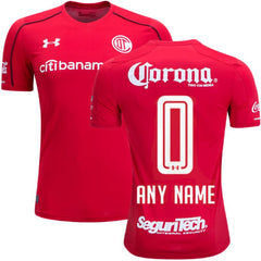 Toluca 17/18 Home Jersey Personalized Jersey TNT Soccer Shop