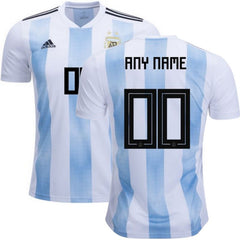 Argentina 2018 Home Jersey Personalized Jersey TNT Soccer Shop