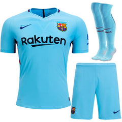 Barcelona 17/18 Away Full Kit Adult Kit TNT Soccer Shop