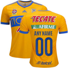 Tigres UANL 17/18 Home Jersey Personalized Jersey TNT Soccer Shop