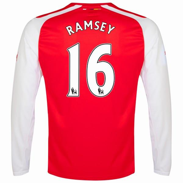 Arsenal 15/16 LS Home Jersey Ramsey #16 Ready to ship! Long Sleeve Jersey TNT Soccer Shop