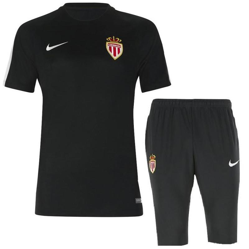 AS Monaco 2017 Black Training Kit - IN STOCK NOW - TNT Soccer Shop