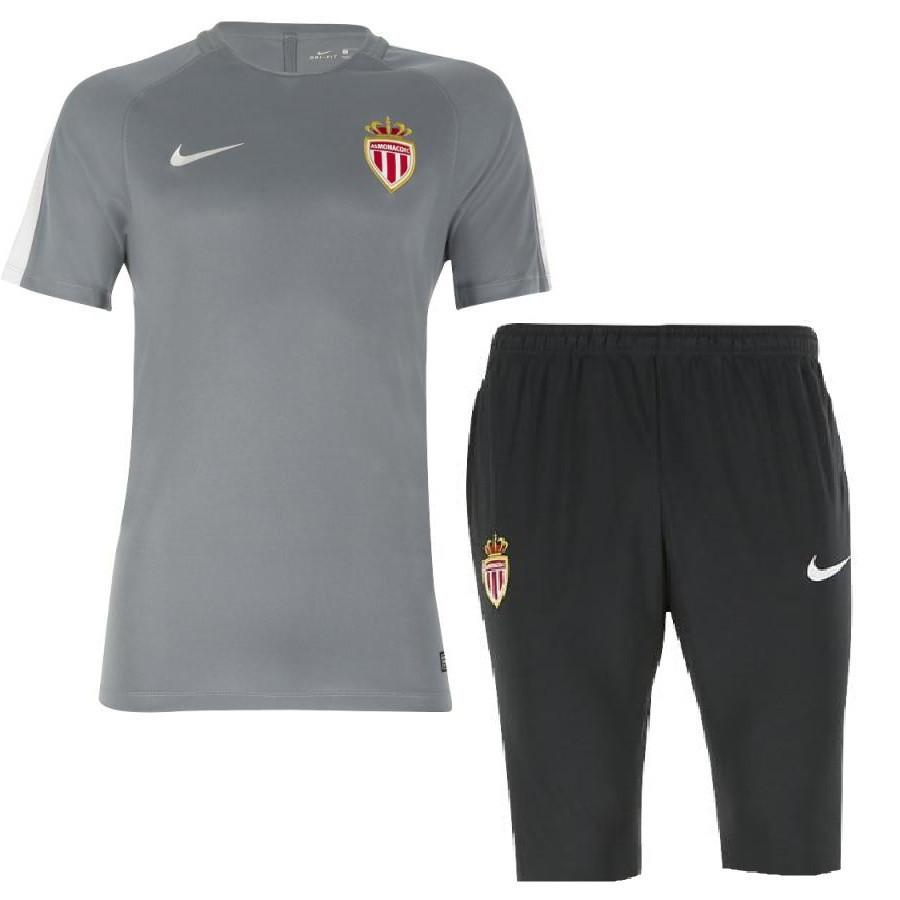 AS Monaco 2017 Grey Training Kit Training Kit TNT Soccer Shop