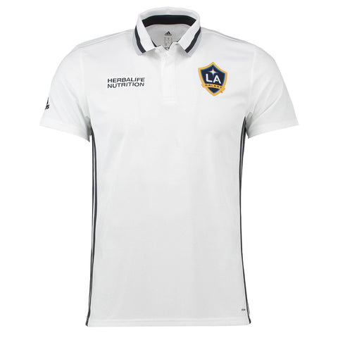 L.A Galaxy 17/18 White  Polo - IN STOCK NOW - TNT Soccer Shop