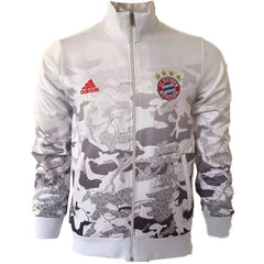 Bayern Munich 17/18 White Camouflage Jacket - IN STOCK NOW - TNT Soccer Shop