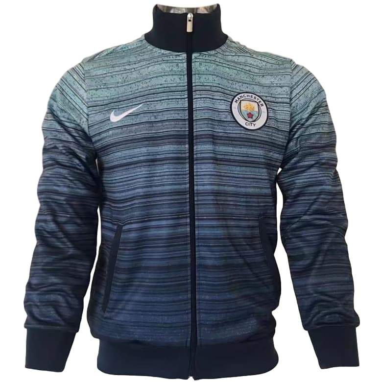 Man. City 17/18 Blue Presentation Jacket Jacket TNT Soccer Shop