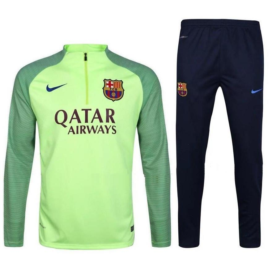 Barcelona 2017 Ghost Green Pre-Match Tracksuit Tracksuit TNT Soccer Shop